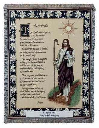 Simply Home 23rd Psalm Tapestry Throw Blanket ()