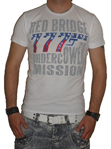 Redbridge by Cipo & Baxx Weiß 777 Gewehr Designer Herren Poloshirt T-Shirt - (R-1454)