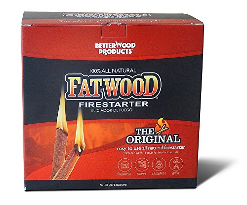 Better Wood Products. Fatwood Firestarter Box, 5-Pounds (Limited Edition) (Fatwood Box Woods)