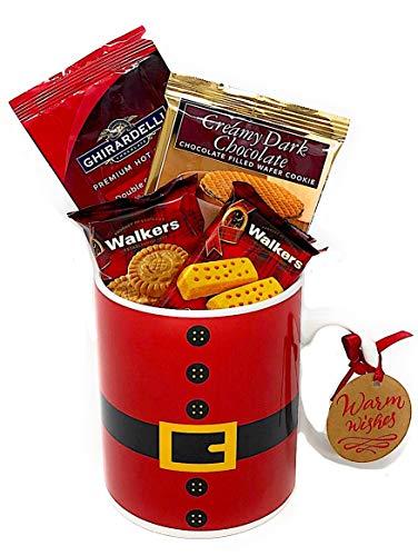 - Gift Set Santa Jumbo Coffee Mug Cookies Chocolate Wafer Hot Cocoa Gift Thank You Holiday (5 Items)