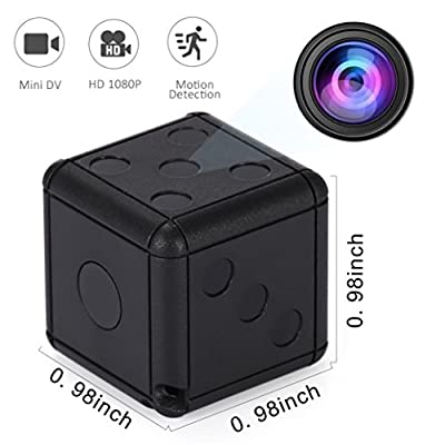 Mini Spy Hidden Espia Camera - Full HD Wireless Dice Cameras with Motion Detection & Night Vision, Secret Surveillance Cam for Home & Office Security, Nanny Camara Espia from Enji Prime