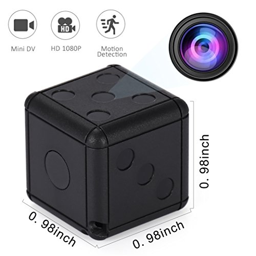 Mini Spy Hidden Espia Camera – Full HD Wireless Dice Cameras with Motion Detection & Night Vision, Secret Surveillance Cam for Home & Office Security, Nanny Camara Espia
