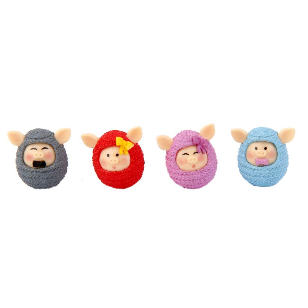 【お気にいる】 MagiDeal Set of Dollhouse 4 Miniature PVC Pig in B01AN8U9IQ 4 Sweater Micro Landscape Bonsai Dollhouse Decor B01AN8U9IQ, キャラクター子供服のズーワッカ:6fb38869 --- diceanalytics.pk