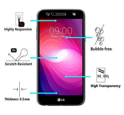 iVoler [2 Unidades] Protector de Pantalla para LG X Power 2, Cristal Vidrio Templado Premium: Amazon.es: Electrónica