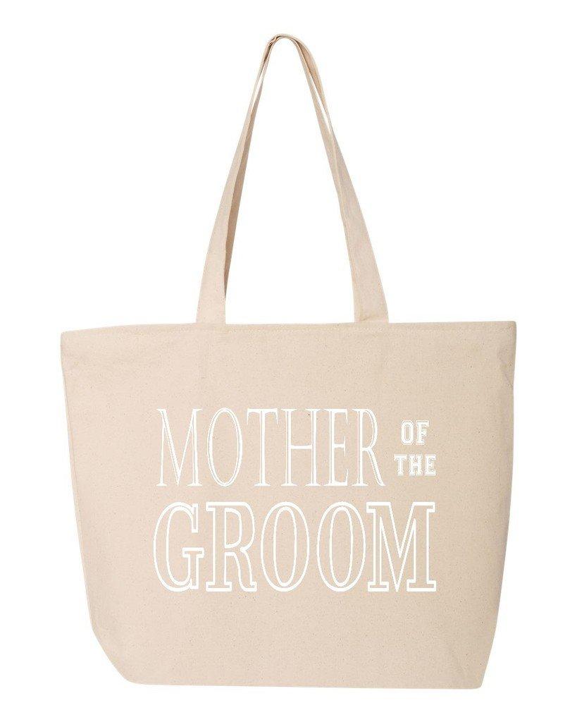 shop4ever Mother of the Groom Heavy Canvas Tote with Zipperウェディング再利用可能なショッピングバッグ12 oz Zip 25 oz S4E_1215_MotherGroom_TB_Q611_Ntr_3 B06XHWW5KV ナチュラル 3