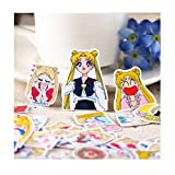 6STARSTORE 36pcs creative cute self made pretty guardian sailor moon scrapbooking stickers decorative sticker
