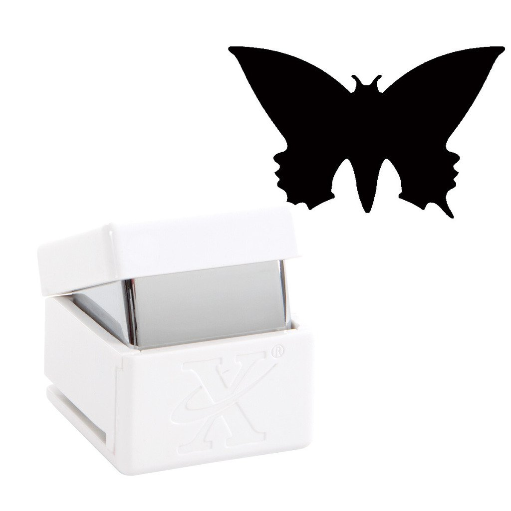 Pointed Butterfly Xcut Handheld Paper Card Shape Cutter Small Palm Punch