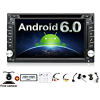 2GB 32G Quad 4 Core 6.2 inch 2 Din Android 6.0 Car Stereo Radio Muti-touch Screen GPS Navigation DVD Player Support 3G WIFI Bluetooth OBD2 Mirror Link with Backup Camera