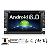 Image of 2GB 32G Quad 4 Core 6.2 inch 2 Din Android 6.0 Car Stereo Radio Muti-touch Screen GPS Navigation DVD Player Support 3G WIFI Bluetooth OBD2 Mirror Link with Backup Camera