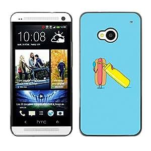 SKCASE Center / Funda Carcasa - Minimalista cartel Hot Dog;;;;;;;; - HTC One M7