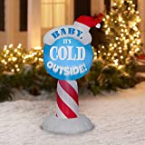 Airblown Christmas Holiday Blow Up Decoration Inflatable Baby Its Cold Outside Sign 3.5 Feet (1)