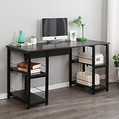 Soges Computer Desk with Open Shelves (4 Color Options)