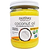 Nutiva, Organic Coconut Oil, Buttery Flavor, 14 fl oz  Pack of 2