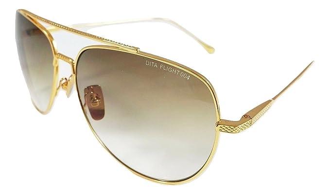 Dita Flight 004 Gafas de sol Aviator Marco dorado cepillado ...