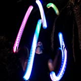 speevers LED Juggling Ball with for Professionals - The Night Circus Light Show - Turns to Poi Staff Flower Stick Modular Juggling - 2 Smart Programmable Brains