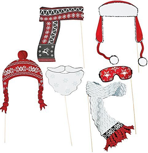 Red & White Stick Costume Props. Assorted (6 Pcs) 6 1/2