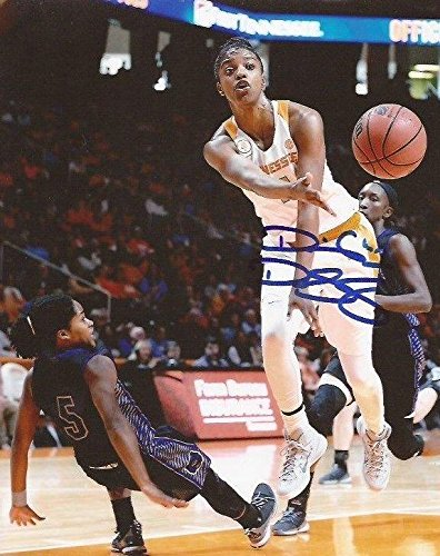 Diamond DeShields WNBA Sky signed Tennessee Lady Volunteers 8x10 photo Vols 2 - Autographed College Photos