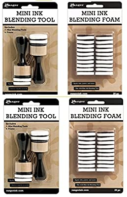 Mini Ink Blending Tool-1 Round (2 Mini Ink Blending Tool With 2 Sets Replacement Foams)