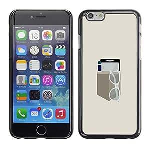 Caucho caso de Shell duro de la cubierta de accesorios de protección BY RAYDREAMMM - iPhone 6 - EQUIPO DE BOLSILLO MINIMALISTA