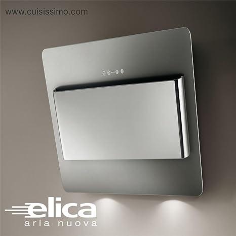 Elica cappa cucina da parete, BELT, in acciaio inox satinato, 55 cm ...