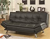 Coaster 300281 Home Furnishings Sofa Bed, Black