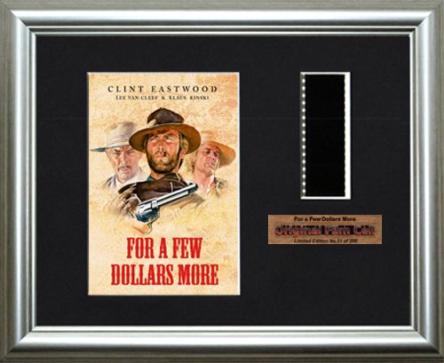 For a Few Dollars More-Gerahmtes Stü ck Originalfilm aus Filmcells Direct