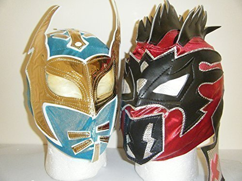 (THE NXT LUCHA DRAGONS - SIN CARA & KALISTO - KIDS WRESTLING MASKS by WRESTLING MASKS)