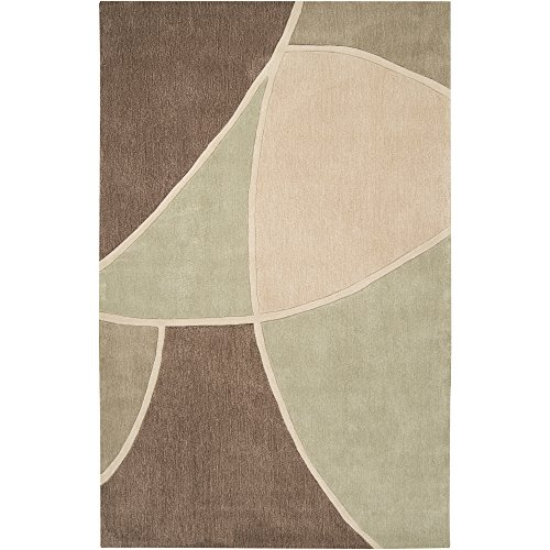 Surya Cosmopolitan COS-8893 Contemporary Hand Tufted 100% Polyester Sage Green 2' x 3' Abstract Accent Rug