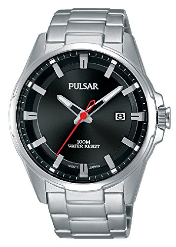 (Pulsar Mens Analogue Classic Quartz Watch with Stainless Steel Strap PS9509X1)