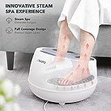 oFlexiSpa Steam Foot Spa Bath Massager with