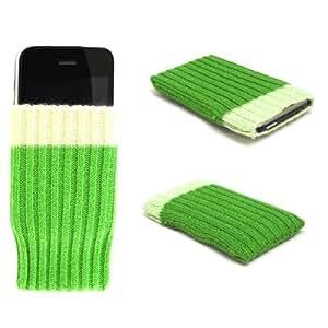 """""""Wow"""" Verde, Calcetín para Samsung A877 Impression. Único Calcetín / Funda / Estuche apto para teléfonos móviles."""