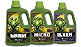 Emerald Harvest Grow, Micro, Bloom Fertilizer Combo, 3.8 L