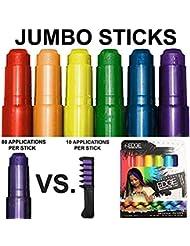 Kids Hair Chalk - JUMBO HAIR CHALK PENS - Washable Hair...
