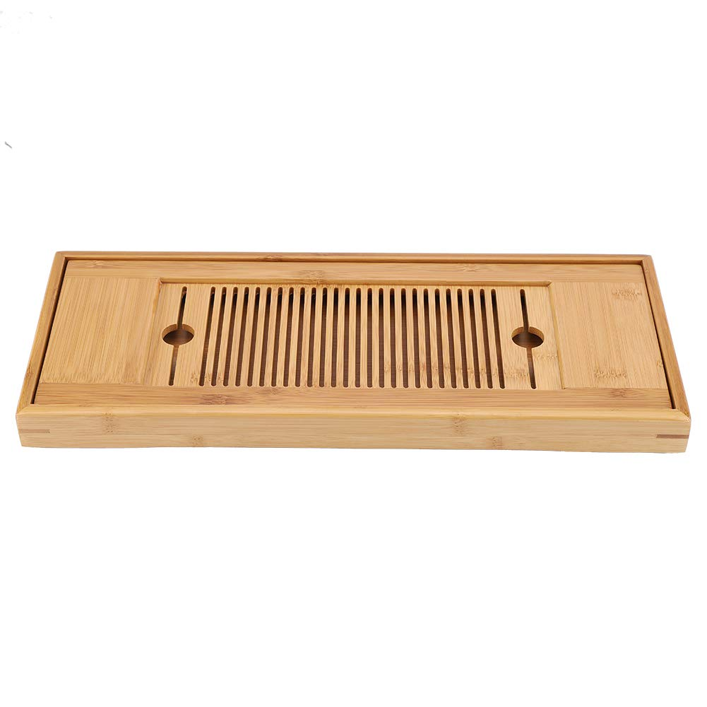 Einfach zu s/äubern Mini Tee-Tablett Chinesisch Gongfu Teeteller Kongfu Teetisch zum Zuhause B/üro Teeservice 1St 38 * 15 cm Bambus-Teetablett Sch/ärfstein Schleifstein