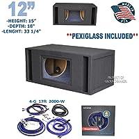 12 Bandpass / 12 dual ported Subwoofer box + 4 gauge Amp kit