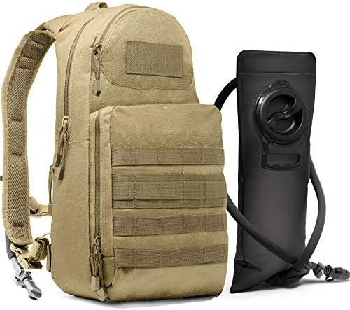 Tactical Molle Hydration Pack Backpack with 3L Water Bladder