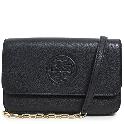 Tory Burch Bag Bombe Mini TB Logo Leather Crossbody - Burch Buy Tory