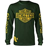Millionaire Mentality Oakland A's Long Sleeve T-Shirt (New) Green & Gold