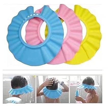 Doyeemei Visi/ère Bain B/éb/é Douche Casquette Anti Shampoing Enfant Bonnet Protection Yeux