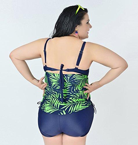 Niseng Mujer Trajes De Baño Una Pieza Grande Talla Bañadores Conjuntos De Falda Y Pantalones Cortos Esmeralda