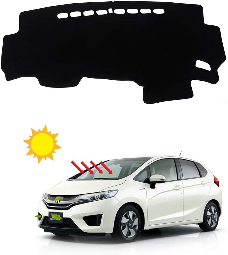 BLAKAYA Compatible with Auto Car Dashboard Carpet Dash Board Cover Mat Dash Protector for 2013 2014 2015 2016 2017 2018 2019 Honda Fit Sun Cover Pad