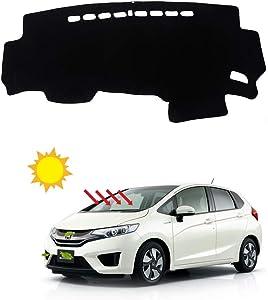 BLAKAYA Compatible with Auto Car Dashboard Carpet Dash Board Cover Mat Dash Protector for 2013 2014 2015 2016 2017 2018 2019 Honda Fit Sun Cover Pad