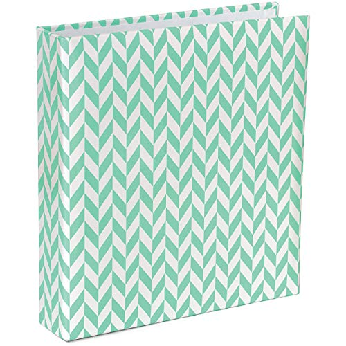 Project Life Album, 6 by 8-Inch, Blue Herringbone - 6 X 6 Scrapbook Albums