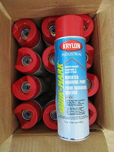 Krylon Inverted Marking Paint - Krylon Inverted Marking Paint Red 12/BX #S03911