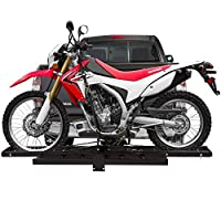 Hitch Mounted Off-Road Dirt Bike Motorcycle Carrier Rack with Ramp