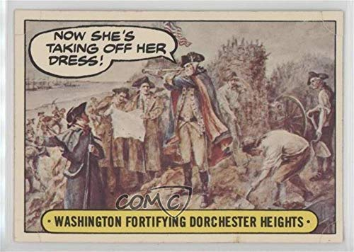 Washington Fortifying Dorchester Heights (Trading Card) 1976 Topps Hysterical History - [Base] - Stickers (Fortifying Base)