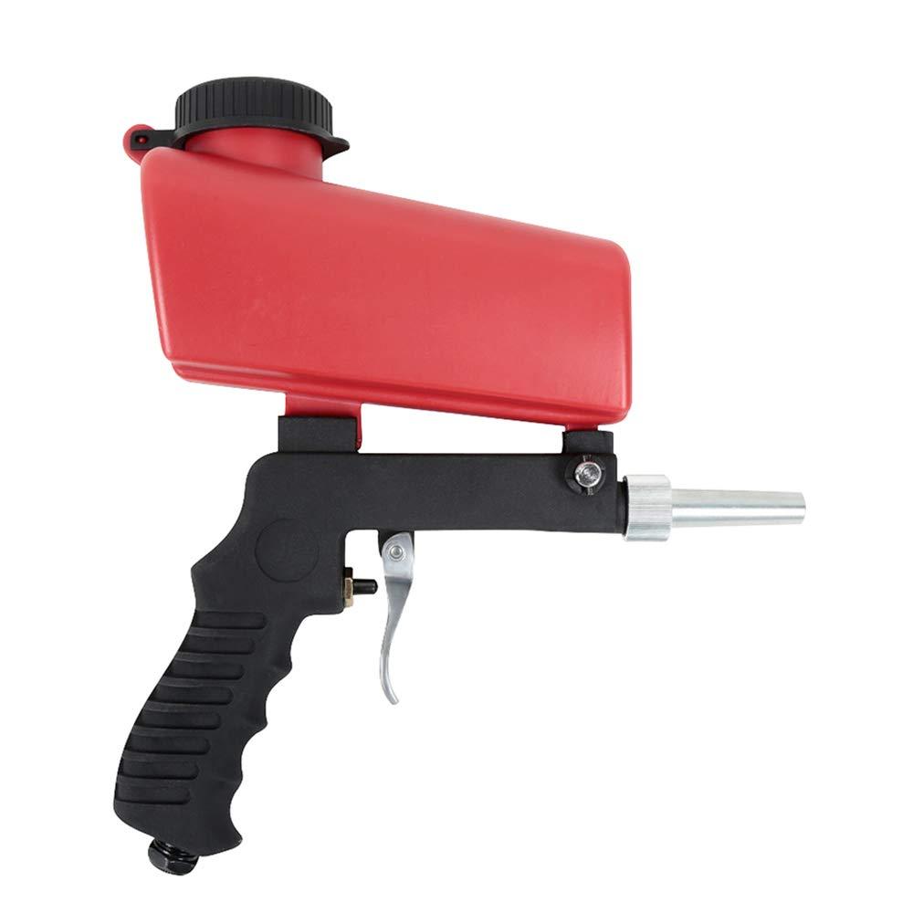 Fesjoy Sandstrahlpistole Schwerkraftzufuhr Luft Sandstrahl Tragbare Geschwindigkeit Blaster Sand Spritzpistole Sandstrahl-SchleifpistoleSandstrahler
