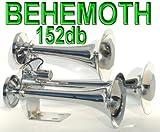 Behemoth Triple Trumpet Train Air Horn 152db Chrome Finish NIB
