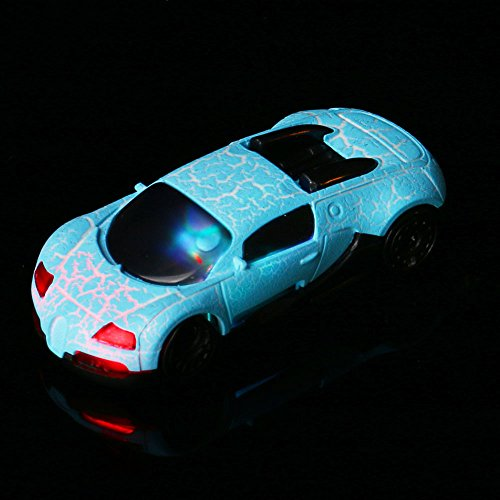 Mintu USB Mini MP3,Super Cute Car USB Mini MP3 Player Light Build in Speaker Speaker Support 2/4/8/16GB/32GB Micro SD TF Card + Earphone (Blue)