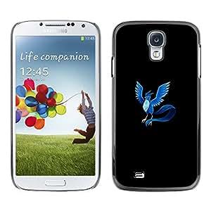 CASER CASES / Samsung Galaxy S4 I9500 / Articuno P0Kemon / Delgado Negro Plástico caso cubierta Shell Armor Funda Case Cover